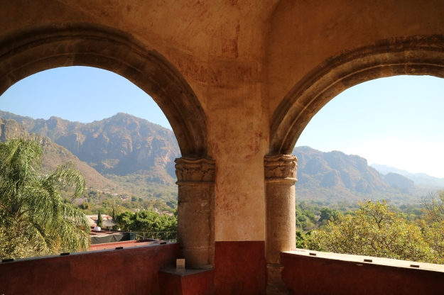 Blick aus dem  Kloster