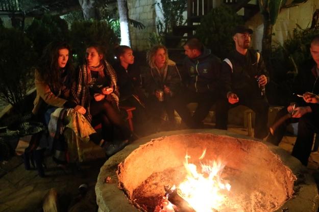 Junge Leute im Hostel Mexico