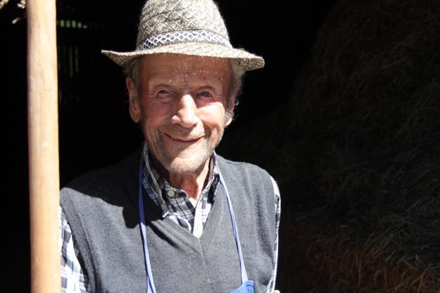Bauer aus dem Villnösstal Dolomiten