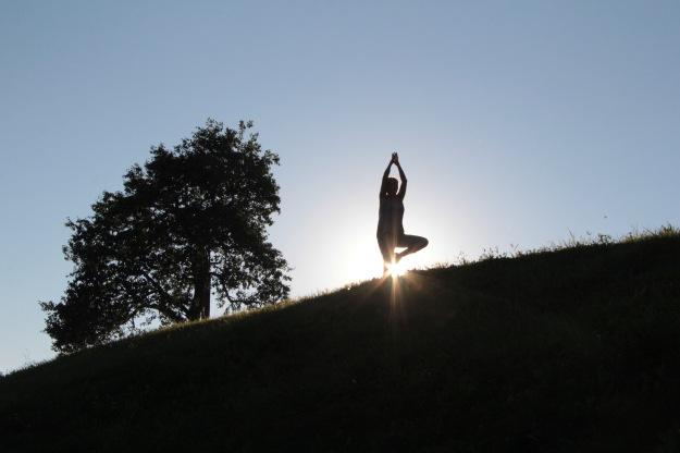 Yogaübung der Baum