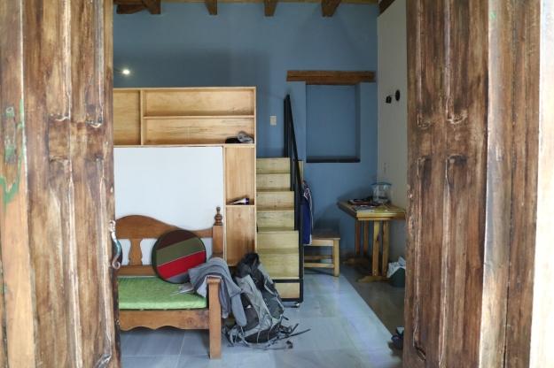 Zimmer mit Hochbett und Kochnische in San Cristobal