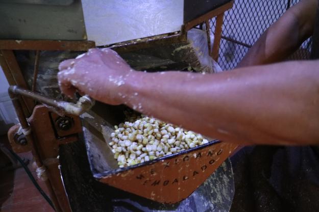 Ab in die Mühle mit dem Mais