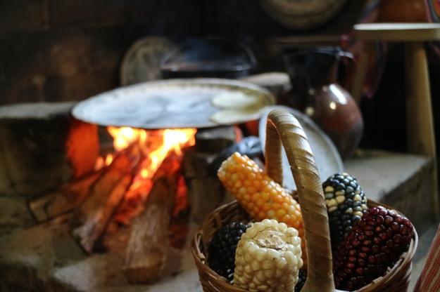 Maistortillas auf dem Feuer