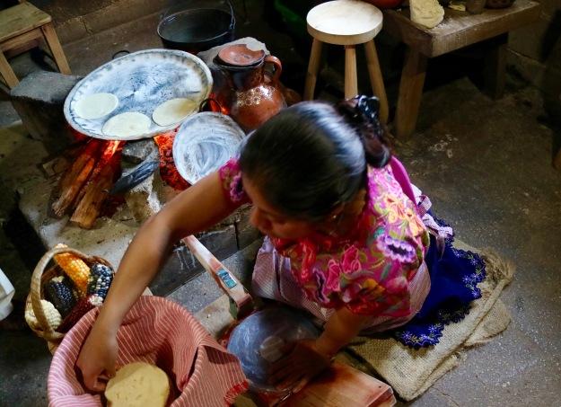 Tortilla-Herstellung auf dem Land