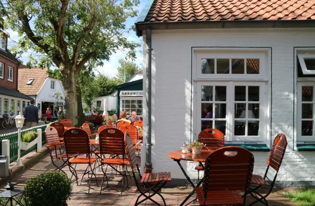 kleine Cafes und Restaurants im Dorf Spiekeroog