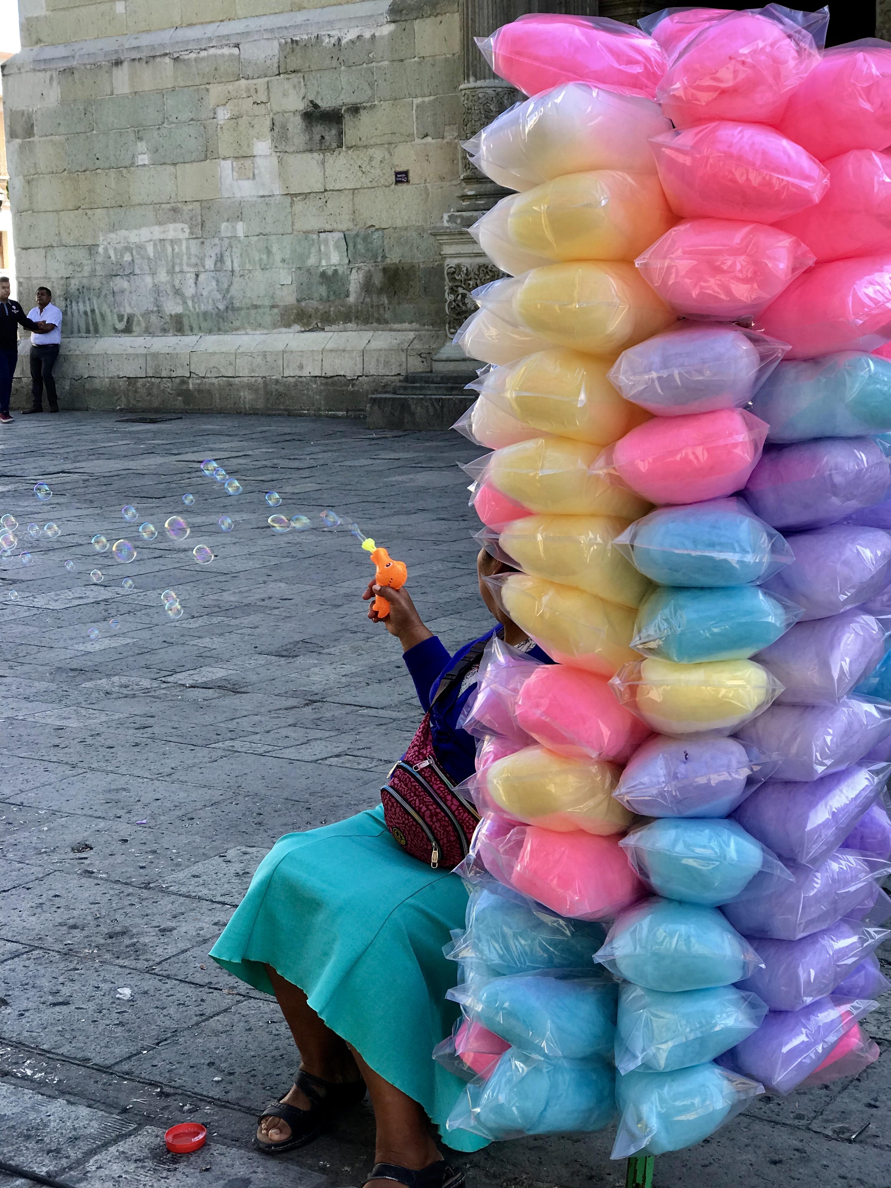 Zuckerwatte in Oaxaca