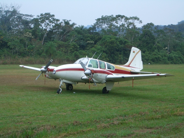 avioneta llegando a Rurenabaque